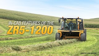 Cab features of the ZR5-1200 self-propelled baler