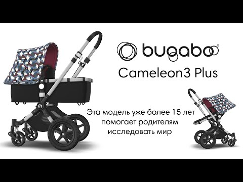 Bugaboo Коляска 2 в 1 Cameleon3 Plus base BLACK/ GREY MELANGE без капюшона