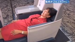 Delta Airline Busines Class Seats デルタ航空のビジネスクラスシートがフルフラットに