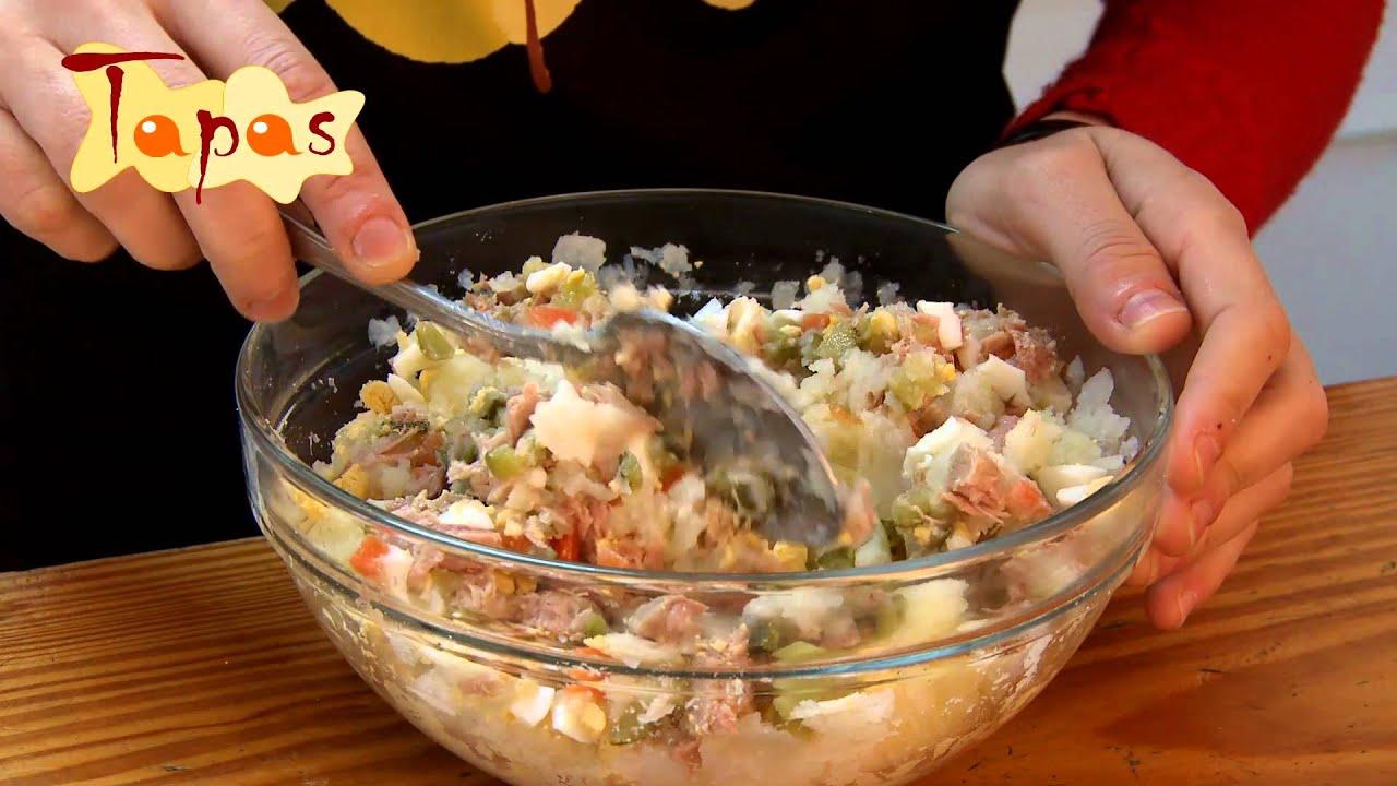 Tapas #5 Cucuruchos de ensaladilla