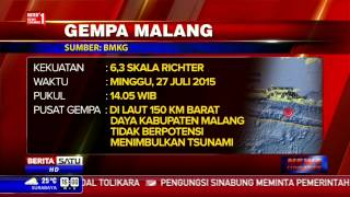 Gempa 63 SR Guncang Malang