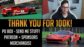 Thank You for 100,000 Subscribers!! Patreon, PO Box and Merchandise Info!!