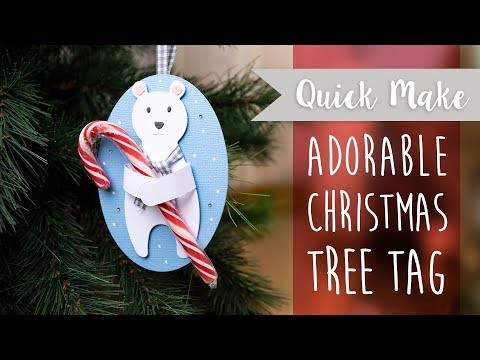 Adorable Christmas Tree Tag - Sizzix