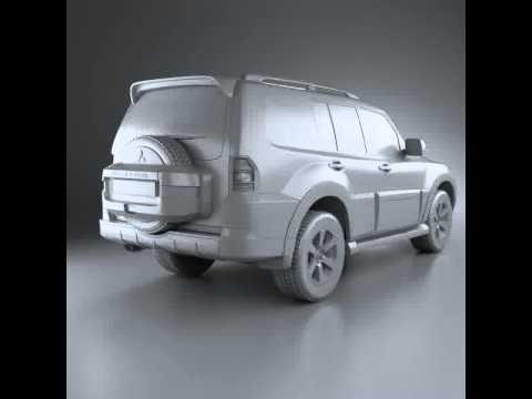 3D Model of Mitsubishi Pajero Wagon 5-door 2009