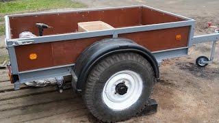 Обзор самодельного ЛЕГКОВОГО прицепа с тракторным ПТС, стоимость, материалы.