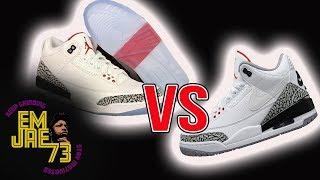 detailed look dca17 0fec9 Justin Timberlake Jth Jordan 3 Vs Throw Line Dunk Contest Jordan 3  Comparison