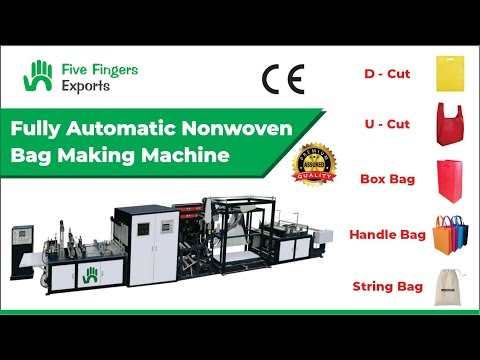 Multifunctional Non Woven Box Bag With Handle Fixing Machine