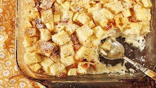 Bread Pudding Recipe Demonstration - Joyofbaking.com