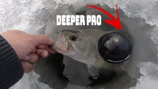 Ice Fishing For Bass Deeper Pro: Ice Fishing Tips : #ice Fishing