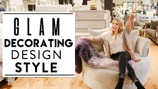 INTERIOR DESIGN | Tips To Decorate In The GLAM DESIGN STYLE