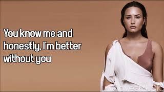 Demi Lovato ft. Lil Wayne - Lonely (Lyrics)