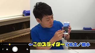 拡大鏡iPhoneを使って虫眼鏡のようにモノを大きくして見る方法