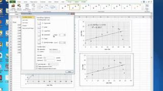 Polynomial Regression in Excel 2010
