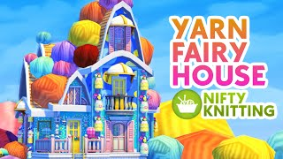 YARN FAIRY HOUSE - Nifty Knitting + Base Game | Sims 4 Speed Build