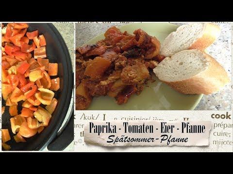 Spätsommerpfanne / Paprika - Tomaten - Eier - Pfanne * Elektropfanne