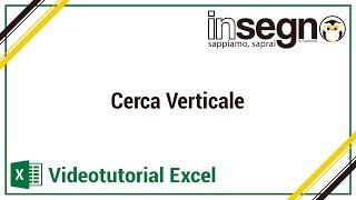 Excel cerca verticale