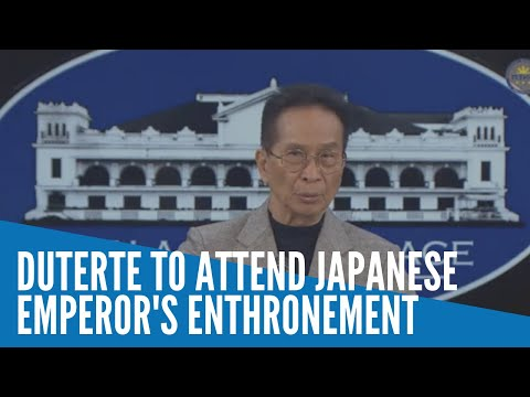 [Inquirer]  Duterte to fly to Japan for Emperor Naruhito's enthronement