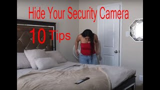 how to hide security camera