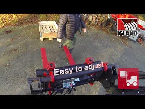 Igland FL 115 dobbel  pallegaffel  - film på YouTube