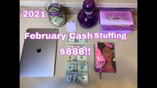 Sinking Funds/ Cash envelope stuffing |February 2021. Stuffing $888 Bundles/Garage sales income.