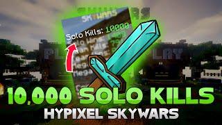 10,000 SOLO KILLS + INSANE TNT STRATS! ( Hypixel Skywars )