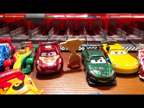 Disney Pixar Cars World Grand Prix Real Races With Lightning McQueen From A Launcher Cool Kids Toys