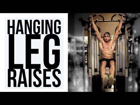 Dumbbell Hanging leg raise