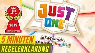 Just One - Regeln - Erklärung - Anleitung - Spiel des Jahres 2019