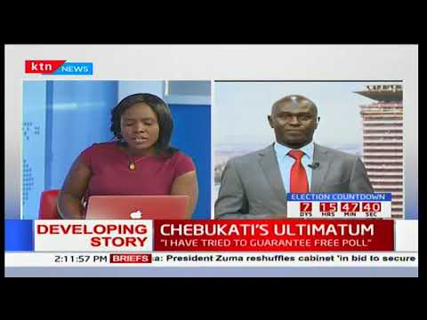 CHEBUKATI'S ULTIMATUM: Chebukati confirms that indeed the commission is under siege
