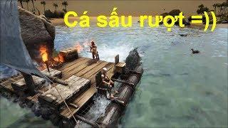 ARK: Survival Evolved Online #25 - Chế Thuyền Đi Bắt Cá Sấu =))