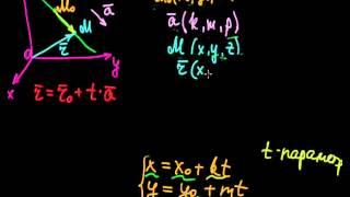 §49 Параметрические уравнения прямой