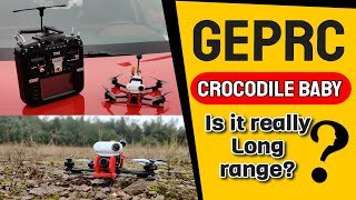 GEPRC Crocodile Baby Long Range FPV Racing Drone Caddx Ratel GPS F4 TBS Crossfire