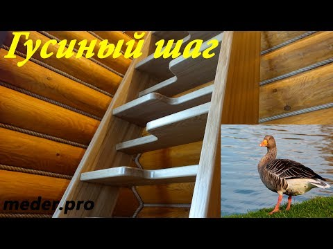 """Лестница """"Гусиный шаг"""""""