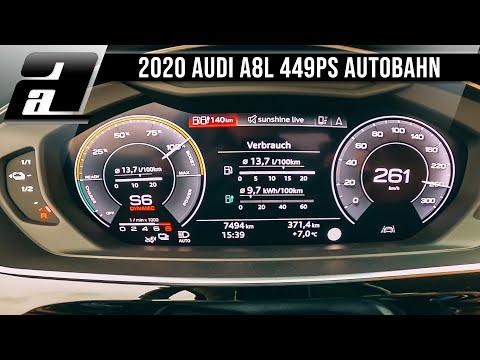 Audi A8L 60tfsie quattro 0 - 261km/h (449PS, 700Nm) | AUTOBAHN