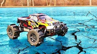 RC CAR DRIFTING ON ICE!!