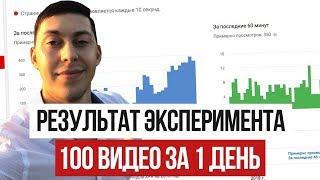 100 Видео за 1 День [ИТОГИ ЭКСПЕРИМЕНТА]. Как раскрутить канал с нуля на Ютубе? | Эльдар Гузаиров