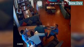 Драка авторитетных предпринимателей в Волгоградском ресторане попала на видео
