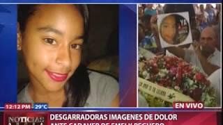 Desgarradoras imágenes de dolor en misa de cuerpo presente de Emely Peguero