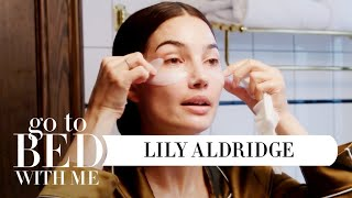 Top Model Lily Aldridges Nighttime Skincare Routine | Go To Bed With Me | Harpers BAZAAR