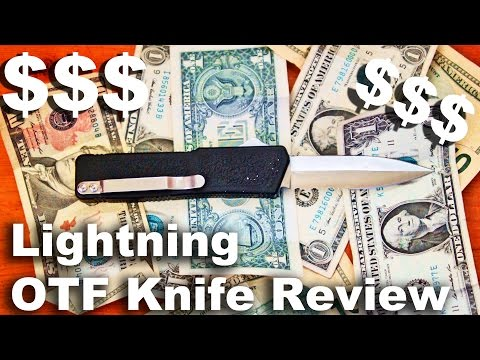 Taiwan Lightning OTF Automatic Switchblade Pocket Knife Review.  Also combat training.
