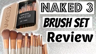 Naked 3 Makeup Brush Set Review And Uses || Elegant Rosy