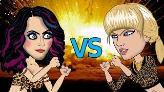 Gambar cover Taylor Swift Vs Katy Perry Fight (HHB Cartoon Parody)