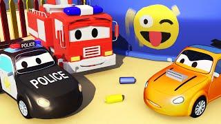 Авто Патруль: пожарная машина и полицейская машина, и Тайлера обвиняют в Автомобильный Город