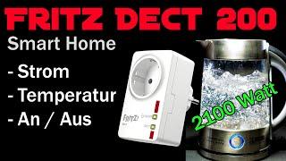 AVM Fritz Dect 200 Smart Home Steckdose: Temperatur messen, Stromverbrauch messen, Zeitschaltuhr