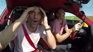Maria Sharapova & Mark Webber in a 911 GT2 RS - Fast laps on the Porsche test track in Weissach