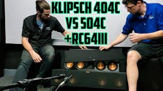 Klipsch RP-404c vs RP-504c vs RC-64 III   Center Channel Speaker Comparison! Tech With A Tech!