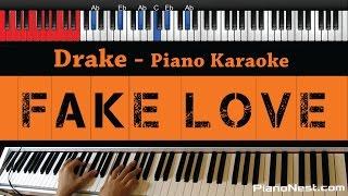 Download Video Drake - Fake Love - HIGHER Key (Piano Karaoke / Sing Along)
