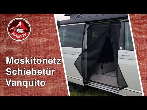 Moskitonetz für die Schiebetür [VanShower, Produkt: Vanquito] für z.B. VW T6 California | #BüssliTV