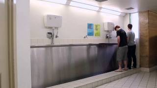 That Awkward Moment When Urinal Etiquette Is Ignored