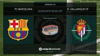 Calentamiento FC Barcelona vs R. Valladolid CF